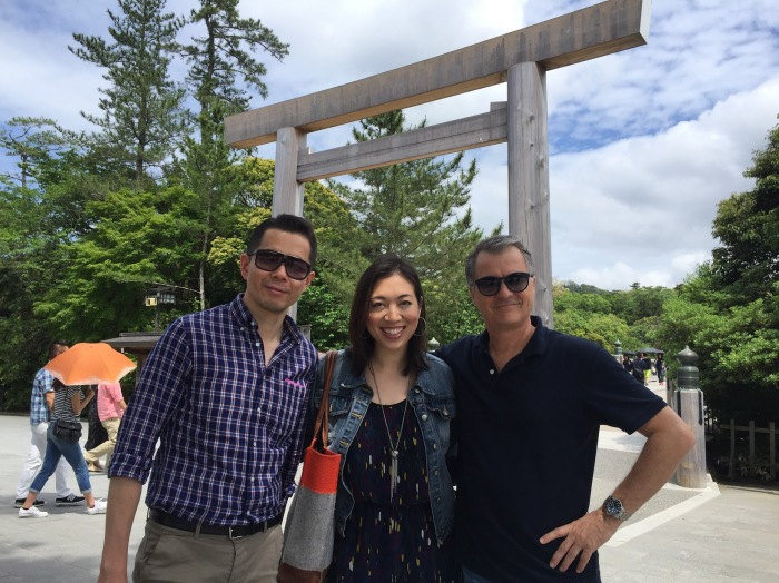 at the ise jingu with cnn producer steven jiang, in from beijing, yours truly and cnn correspondent andrew stevens, in from hong kong.