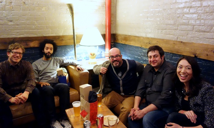 oh, no big deal, just hanging out on a couch with david cross. (and eugene!)