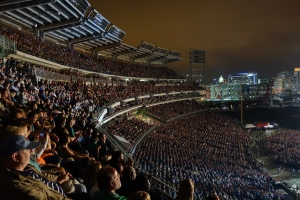 at the paul mccartney concert, every seat at nats stadium was filled.