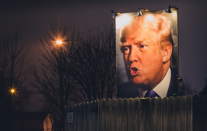 trump backyard sign in west des moines, iowa. photo by tony webster.