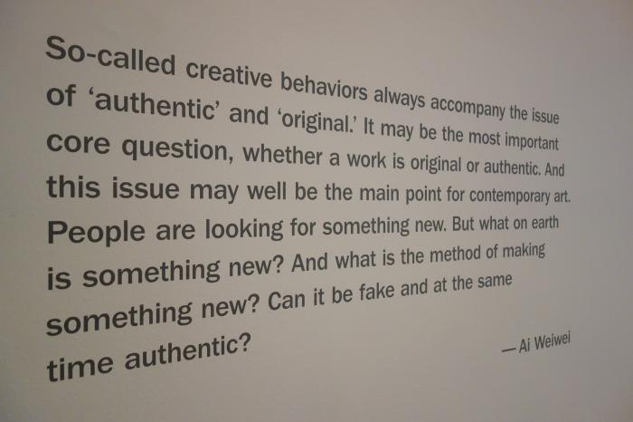 from the ai wei wei exhibit in washington.