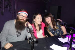 air sex host chris trew, me, and head judge molly.