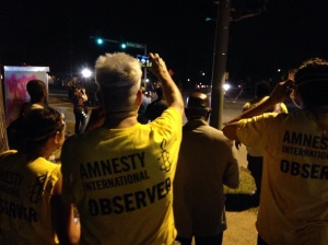 by the second week of protests in ferguson, amnesty international observers were on the ground.
