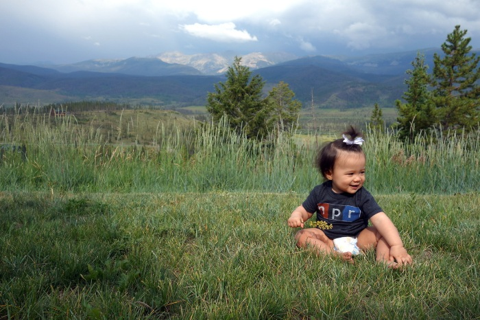 in the backyard of our colorado rental.