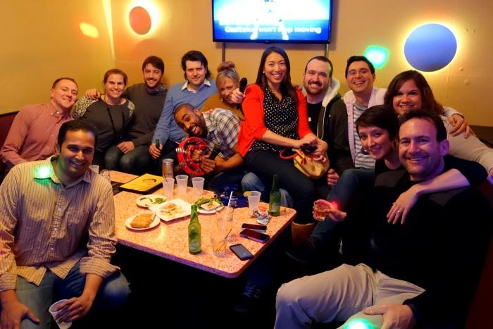 private karaoke room goodbye at wok 'n roll. yes, it's called wok 'n roll.